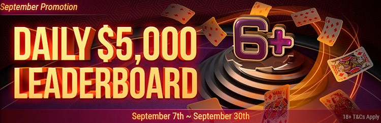Daily $5000 leaderboard